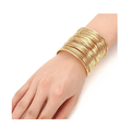 Gold Toned Multilayer Strings openable Cuff Bracelet - Yellow Chimes