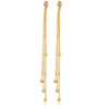 Thread Hangings Gold Toned Crystal Dangler Earrings - Yellow Chimes
