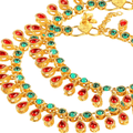Traditional Gold Toned Kundan Stones Payals Anklets - Yellow Chimes