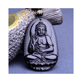 Stainless steel Zodiac Buddha Matte Gloss Beads Pendant - Yellow Chimes