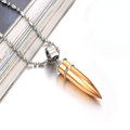 Golden Bullet Stainless Steel Rocking Pendant - Yellow Chimes