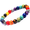 Divine Collection 7 Chakra Natural Stones Bracelet - Yellow Chimes