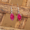 925 Silver Certified Purity Crystal Drop Earrings - Yellow Chimes