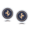 Golden Running Horse Stainless steel Cufflinks - Yellow Chimes