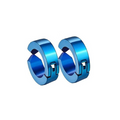Dumbbells Fashion Stainless steel Blue Studs Earrings - Yellow Chimes