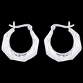 925 Sterling Silver Bali Hoops Earrings - Yellow Chimes