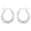 925 Silver Certified Bali Hoops Earrings - Yellow Chimes