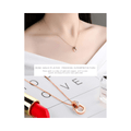 Western Style Heart in Ring Rose Gold Toned Pendant - Yellow Chimes