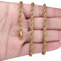 316L Stainless Steel Twist Rope Gold Chain - Yellow Chimes