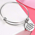 Inspirational Message Engraved Stainless Steel Bracelet - Yellow Chimes