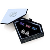 Silver Toned Swarovski Crystal 4 Pair Stud Earrings Set
