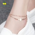 Western Style Stainless Steel Stardust Fish Anklet - Yellow Chimes