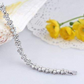 Silver Toned Double Layer Swarovski Crystal Bracelet - Yellow Chimes