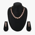 AD Classic Style Rose Gold Plated Circle Necklace Set.