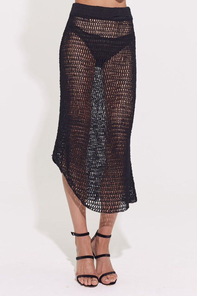 Elle Knit Skirt // Black
