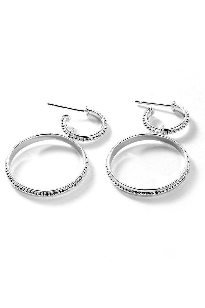 The Faith Double Hoop Earring // Silver