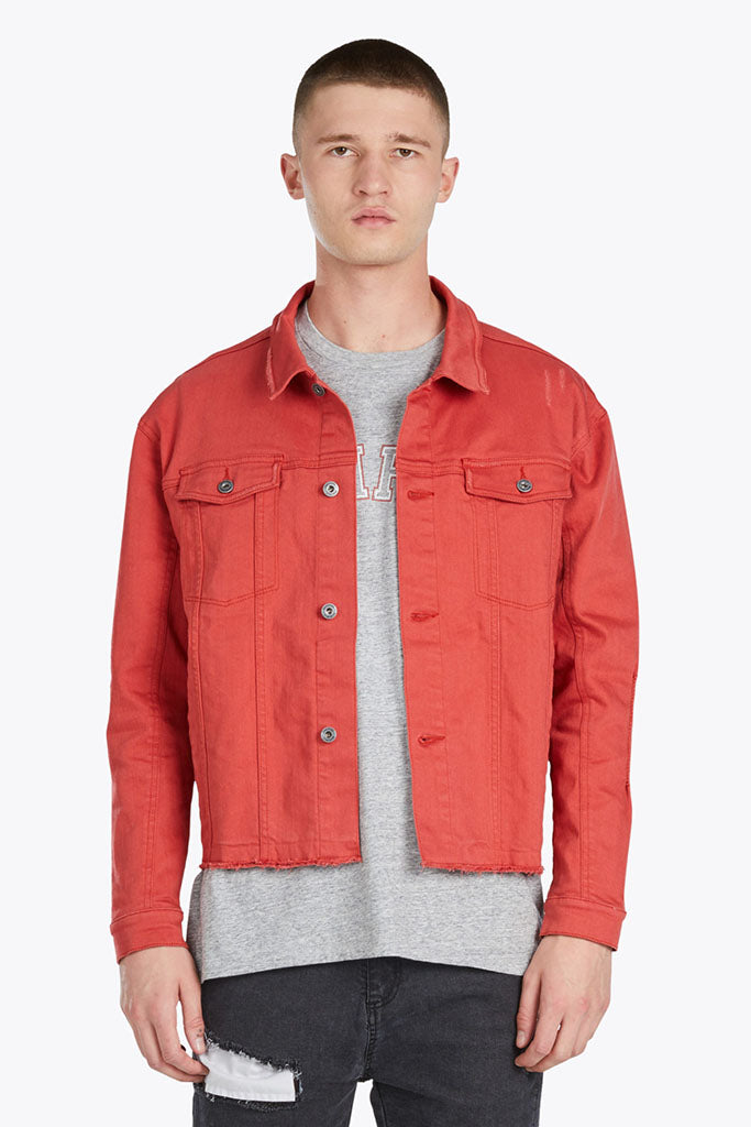 Snitch Denim Jacket // Vintage Red