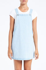 Forecast Denim Pinafore // White Washed Blue