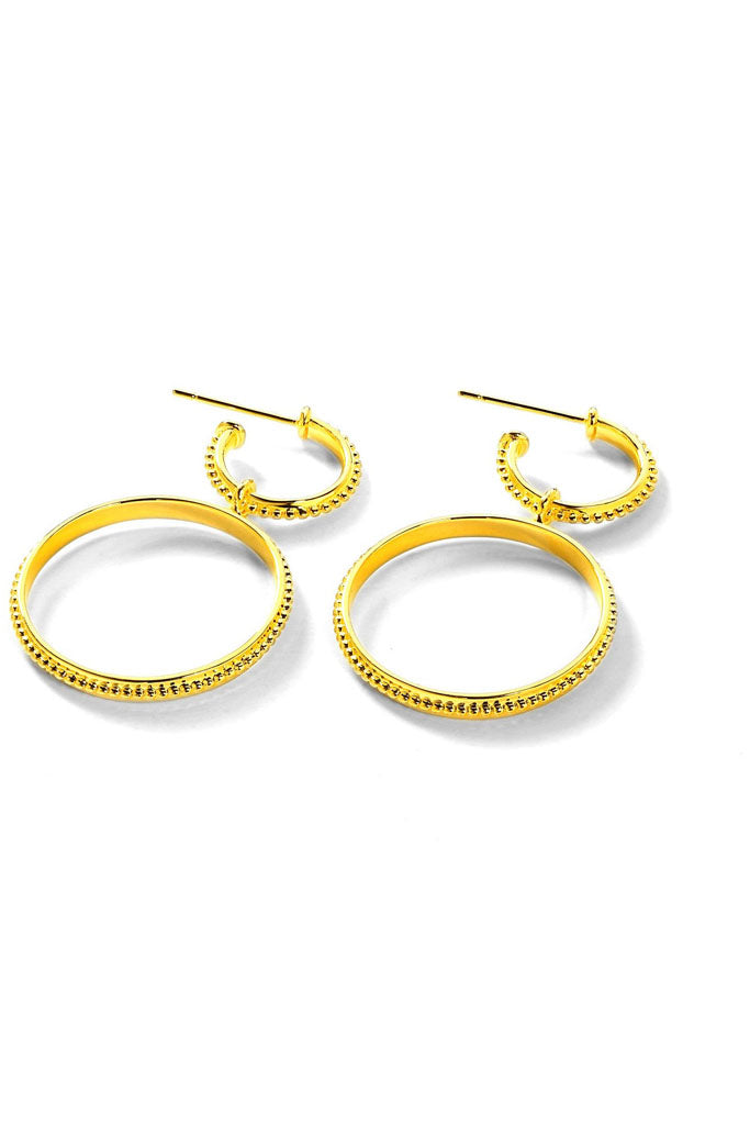 The Faith Double Hoop Earring // Gold