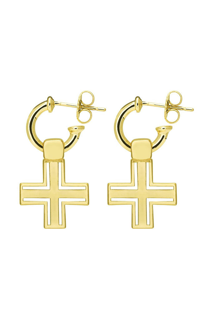 The Sioux Cross Earring // Gold Plating