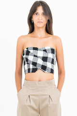 Hastings Strapless // Black/ White