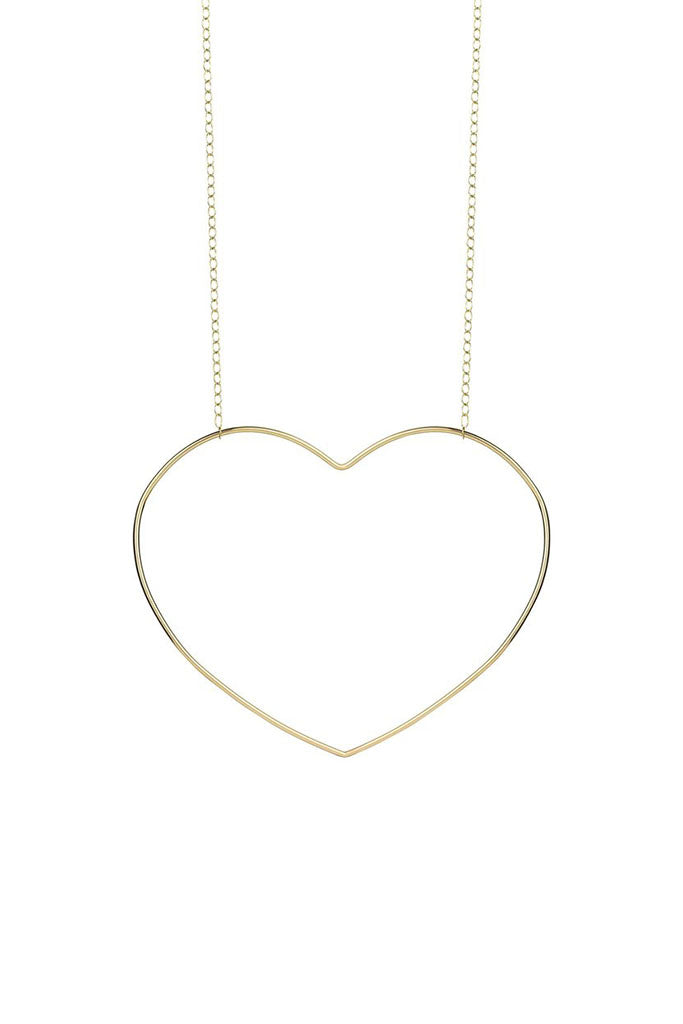 Follow Your Heart Necklace // Gold