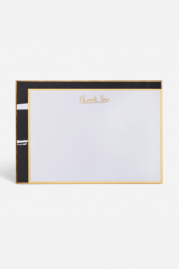 Thank You Note Cards // White & Gold