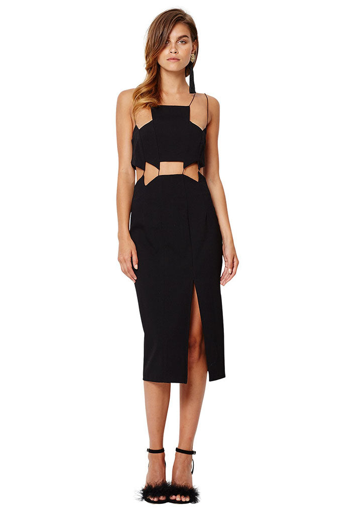 Coco Jazz Bib Dress // Black