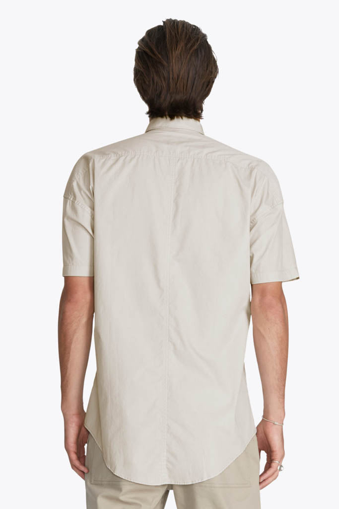 Patch Rugger SS Shirt // Taupe