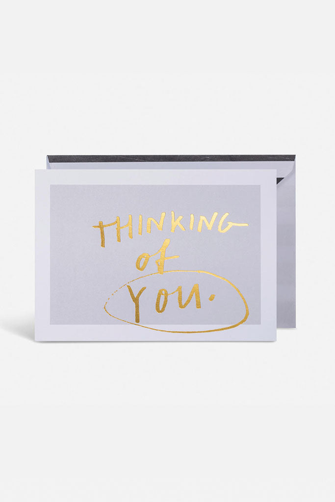 Thinking of You Card // White & Gold