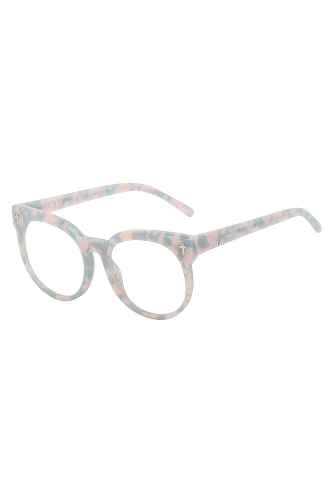 Leeches Optical // Baby Pink & Blue Tort // Clear