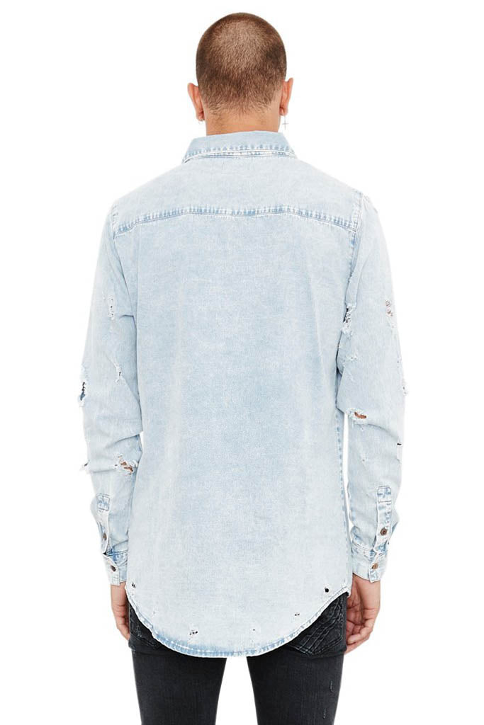 Bobby Longsleeve Denim Shirt // Stone Blue