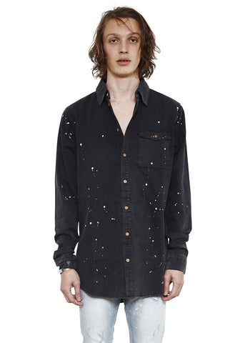 Billy Denim Shirt // Manic Black