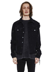 Eddie Destroyed Denim Jacket // Manic Black