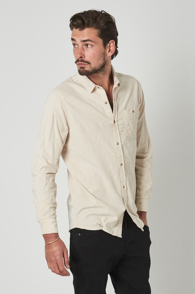 Men At Work Cord Shirt // Natural Cord