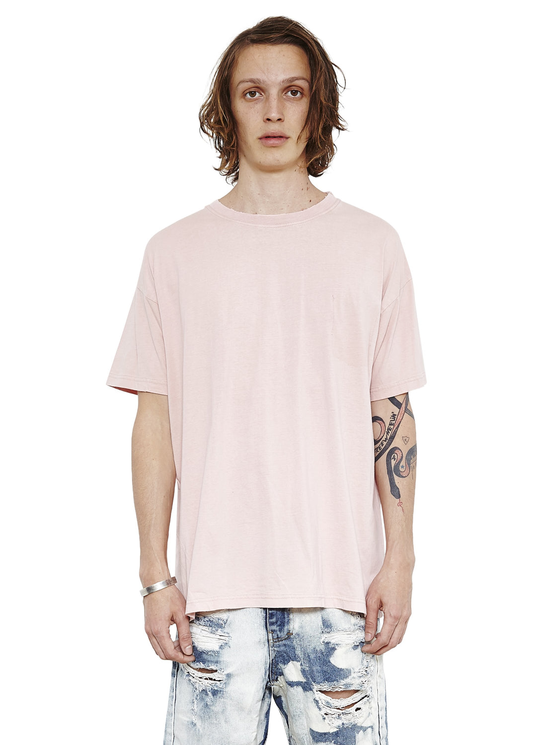 Pocket Vintage Tee // Salmon