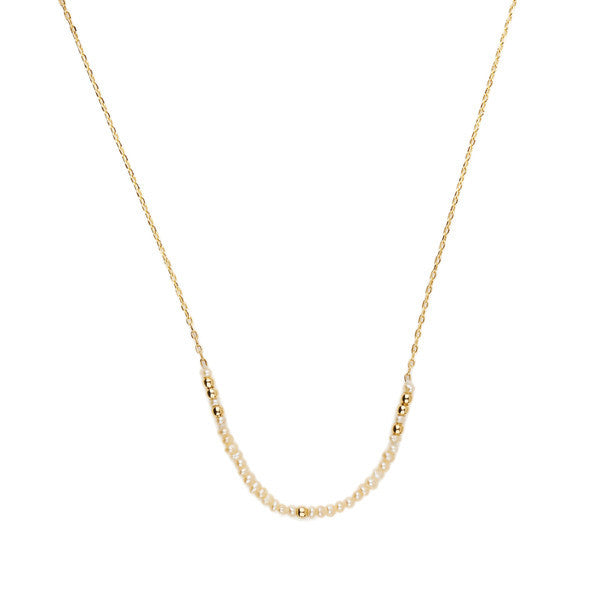 Pearl Cherish Necklace // Gold