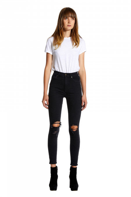 Marilyn Super High Skinny // Busted Black