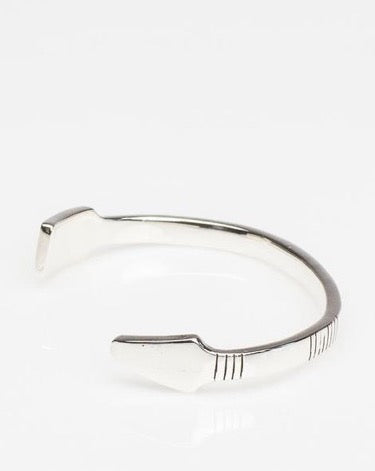 Arrow Cuff // Polished Silver & Oxidized Sterling Silver