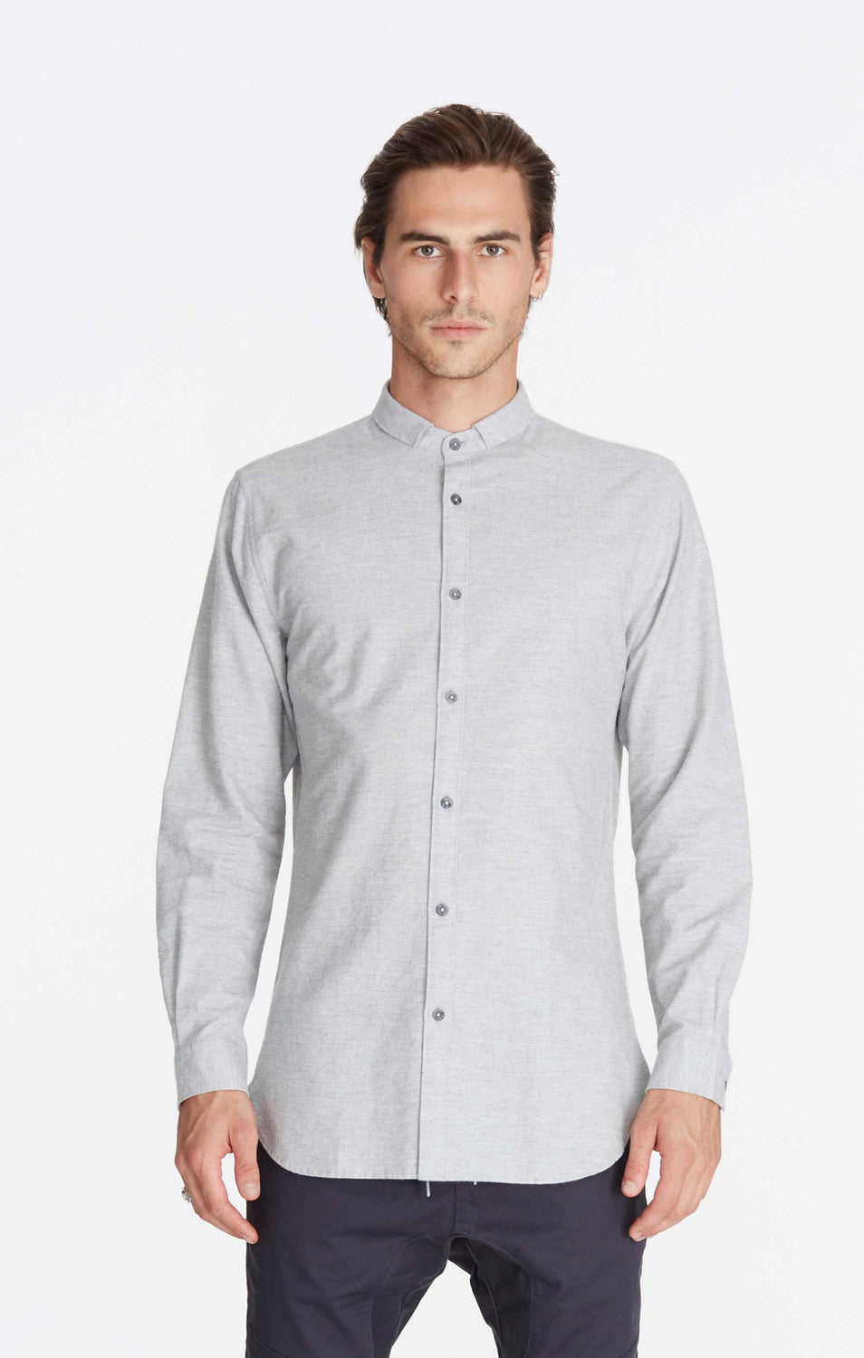 Tuck 7ft LS Shirt // Grey Melange