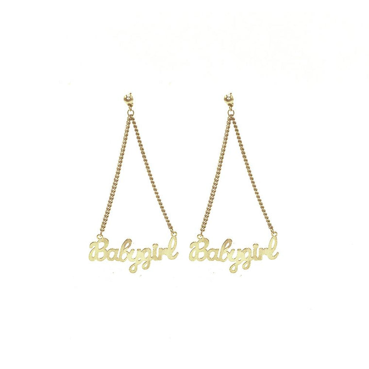 Babygirl Studs // Gold