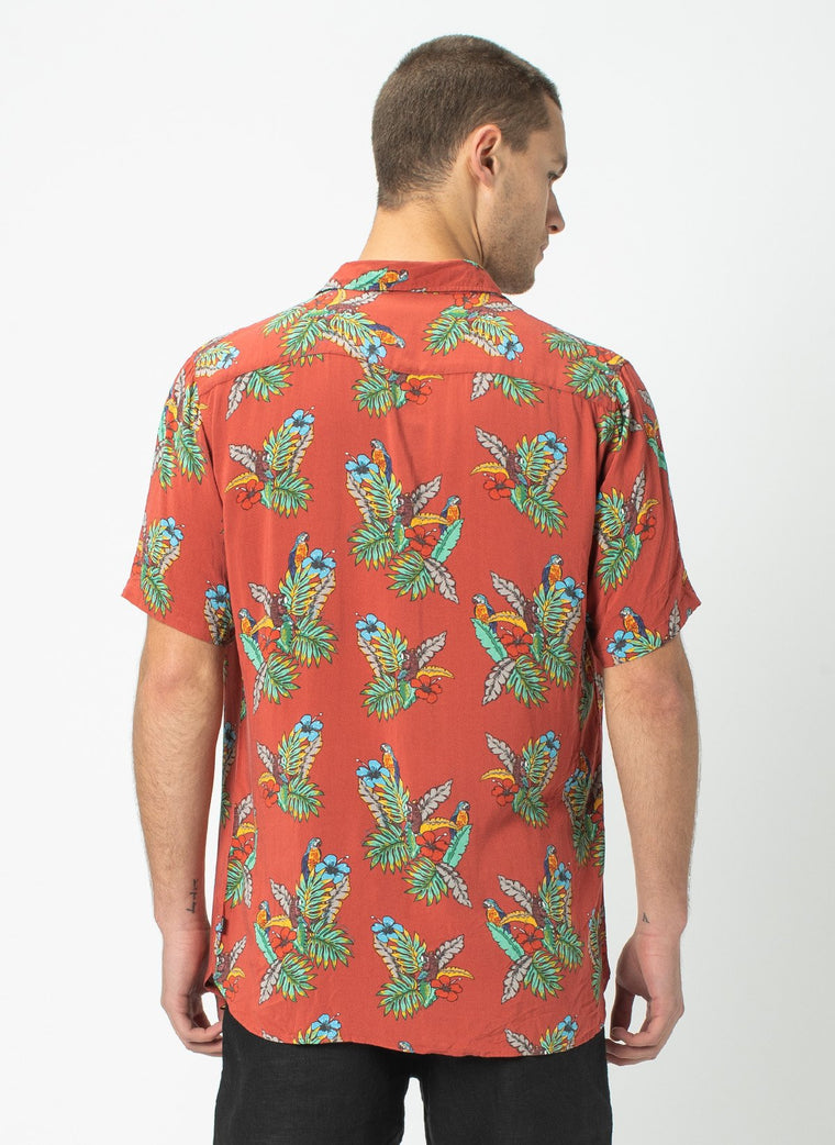 Holiday SS Shirt // Red Parrot