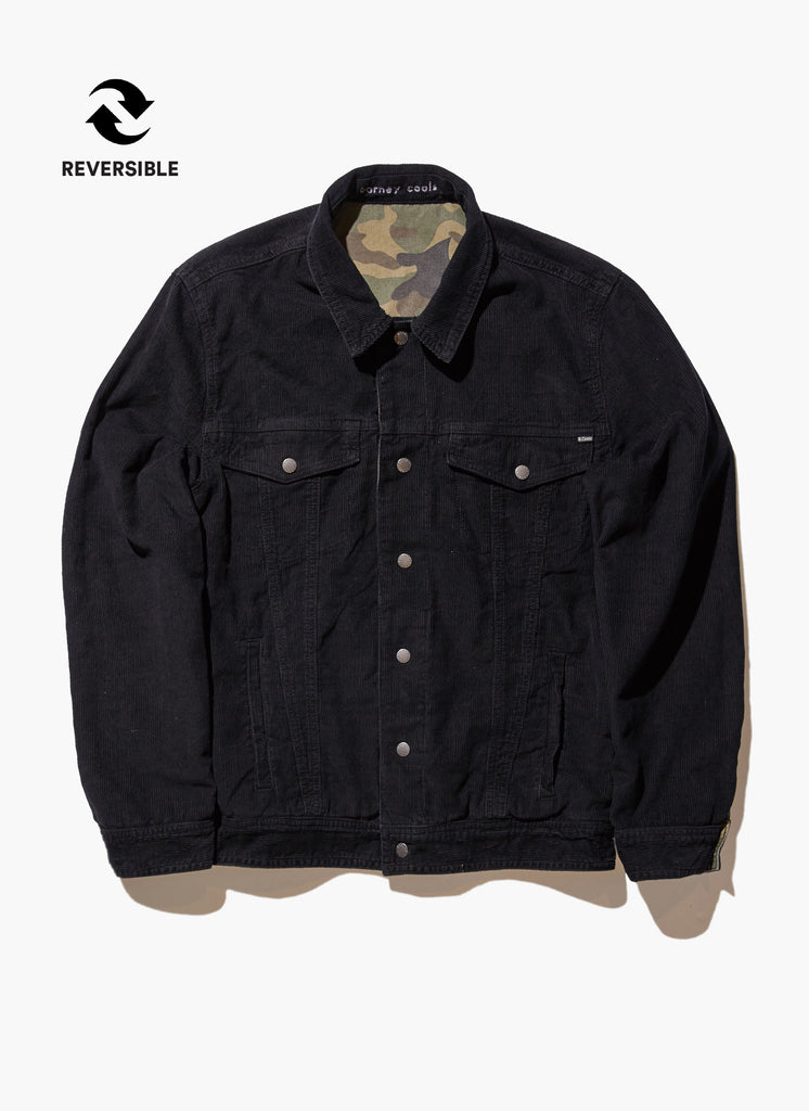Reversible Denim Jacket // Black/Camo