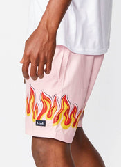 Poolside 17' Short // Pink Flames