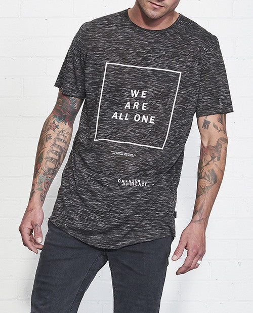 We Are All One Tee // Black Static