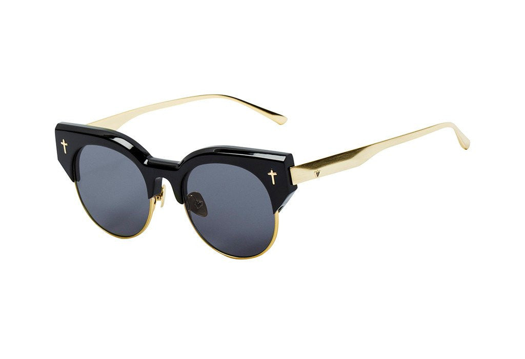 ADCC II - Gloss Black w. Gold Titanium Trim / Black Lens