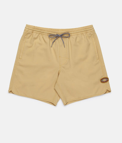 Black Label Beach Short // Sun Bleached Yellow