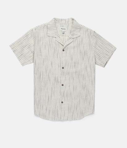 Vacation Stripe SS Shirt // Navy