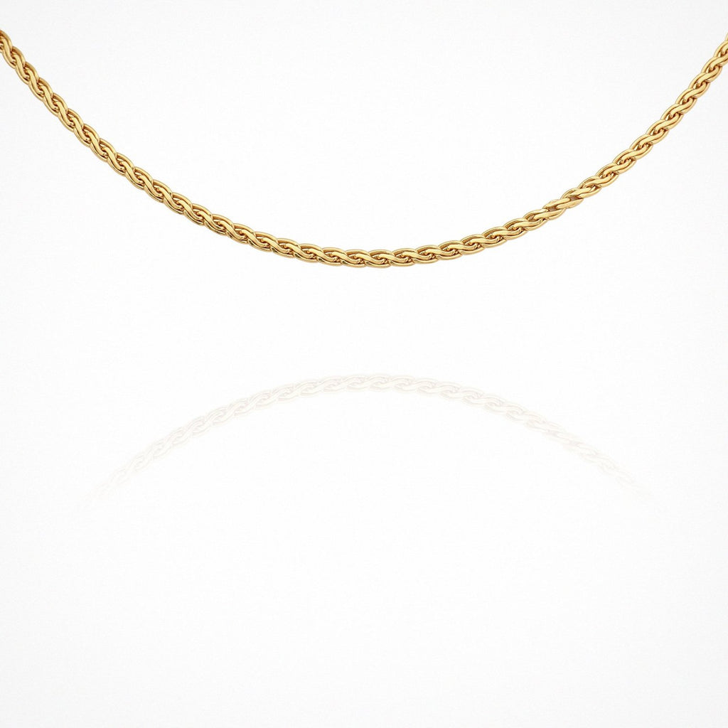 Braided Choker Chain // Gold