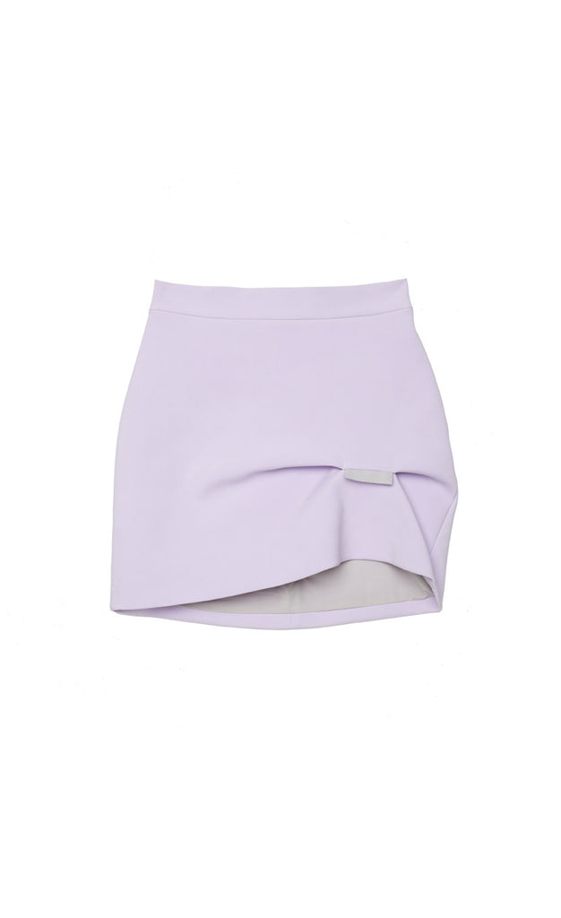 Lilac Fold Mini Skirt // Lilac Grey